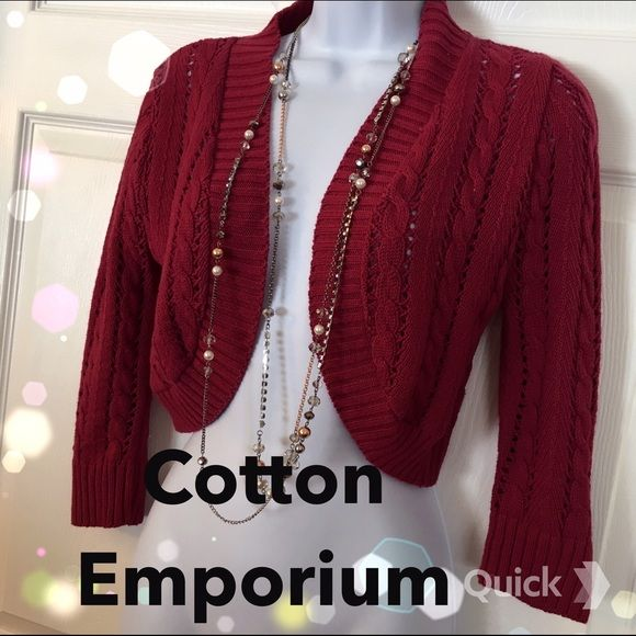 Cotton Emporium Sweater | Shrug sweater, Knit shrug and Cotton