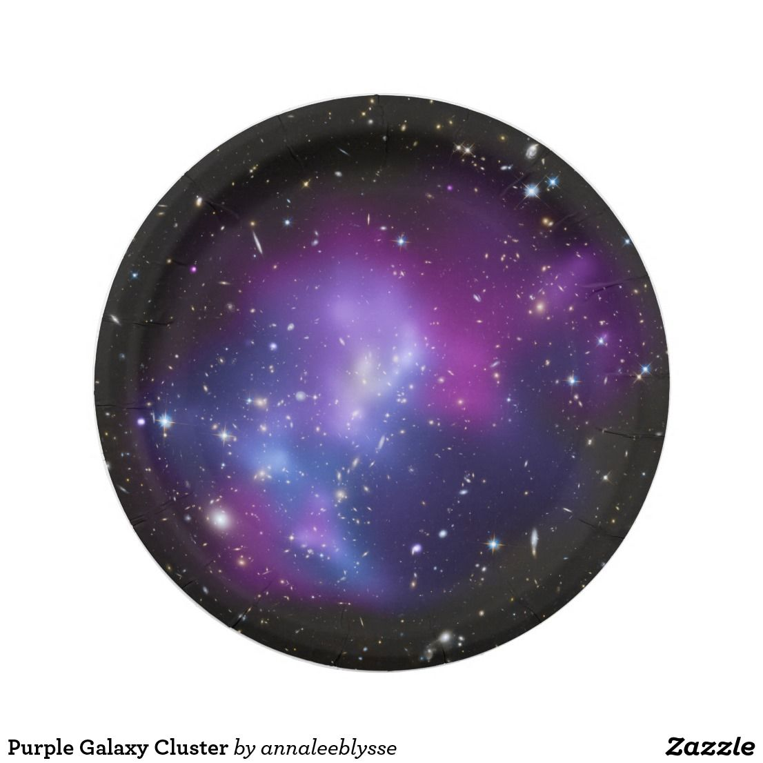 Purple Galaxy Celestial Paper Plate Paper