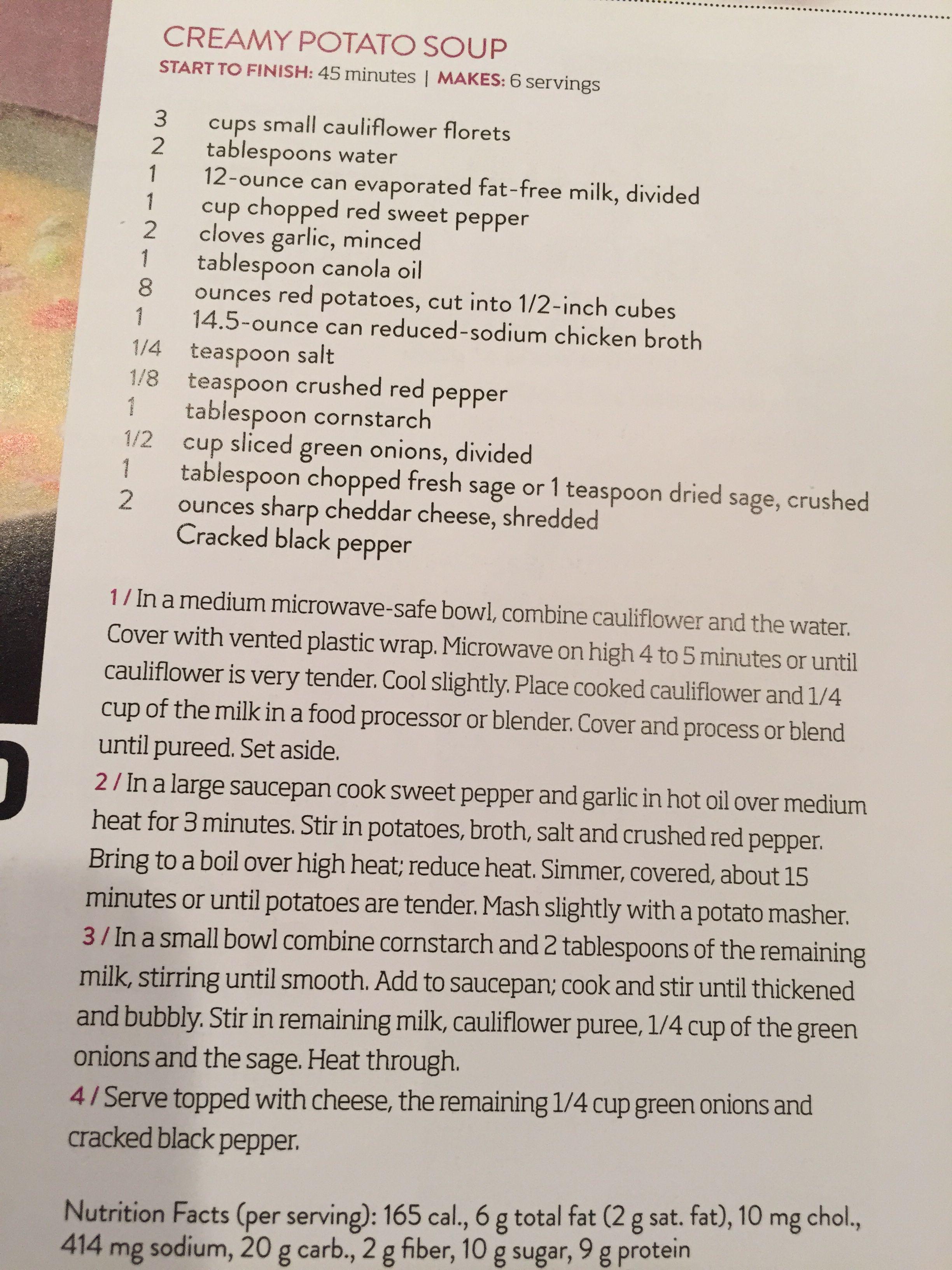 publix potato soup made creamy with cauliflower soups stocks
