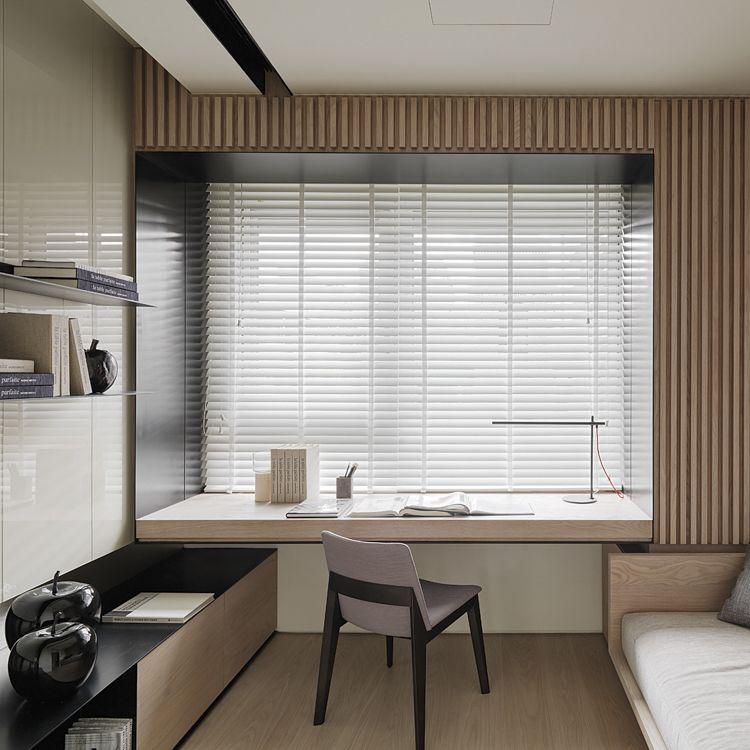 Modern Home Office In The Bedroom Diseno De Interiores