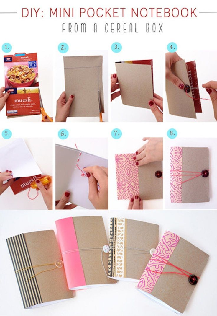 Creative diy ideas for recycling cereal boxes daily update on my diy mini pocket cute pretty book diy crafts diy ideas diy crafts do it yourself diy project homemade diy tips diy images do it yourself images diy photos solutioingenieria Image collections