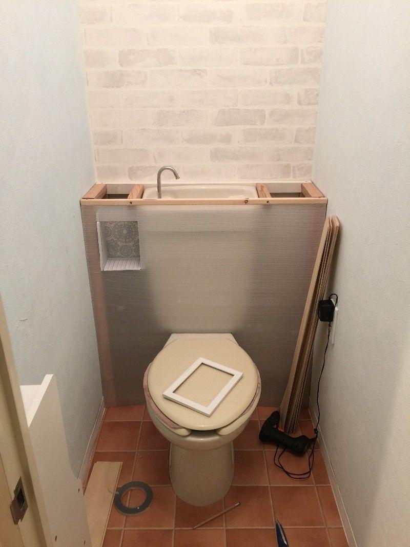 トイレ改造計画 タンクレス風にしよう Limia リミア トイレ リフォーム Diy トイレタンク 隠す トイレタンク