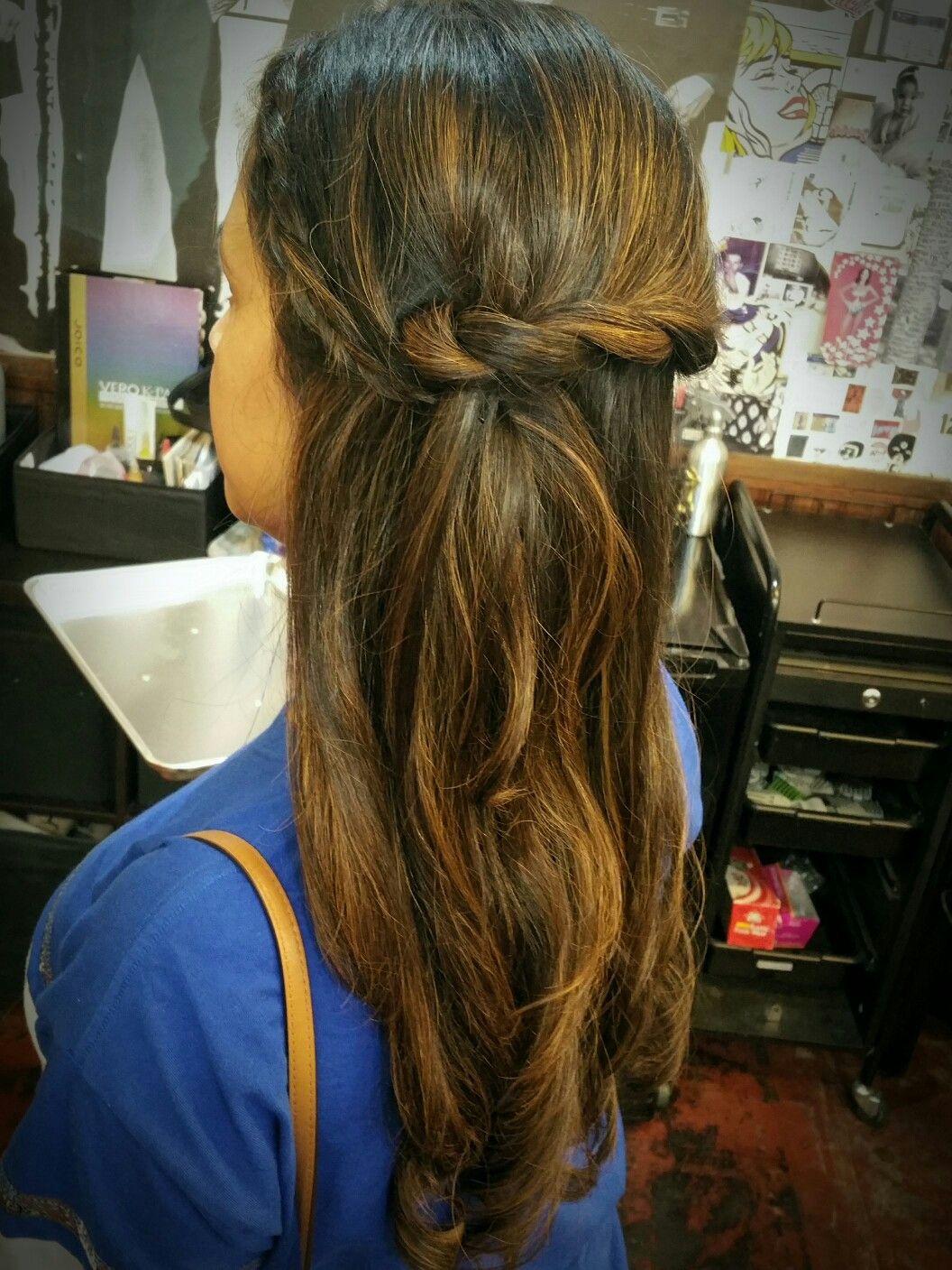 Hairstyle formal braid twist half up