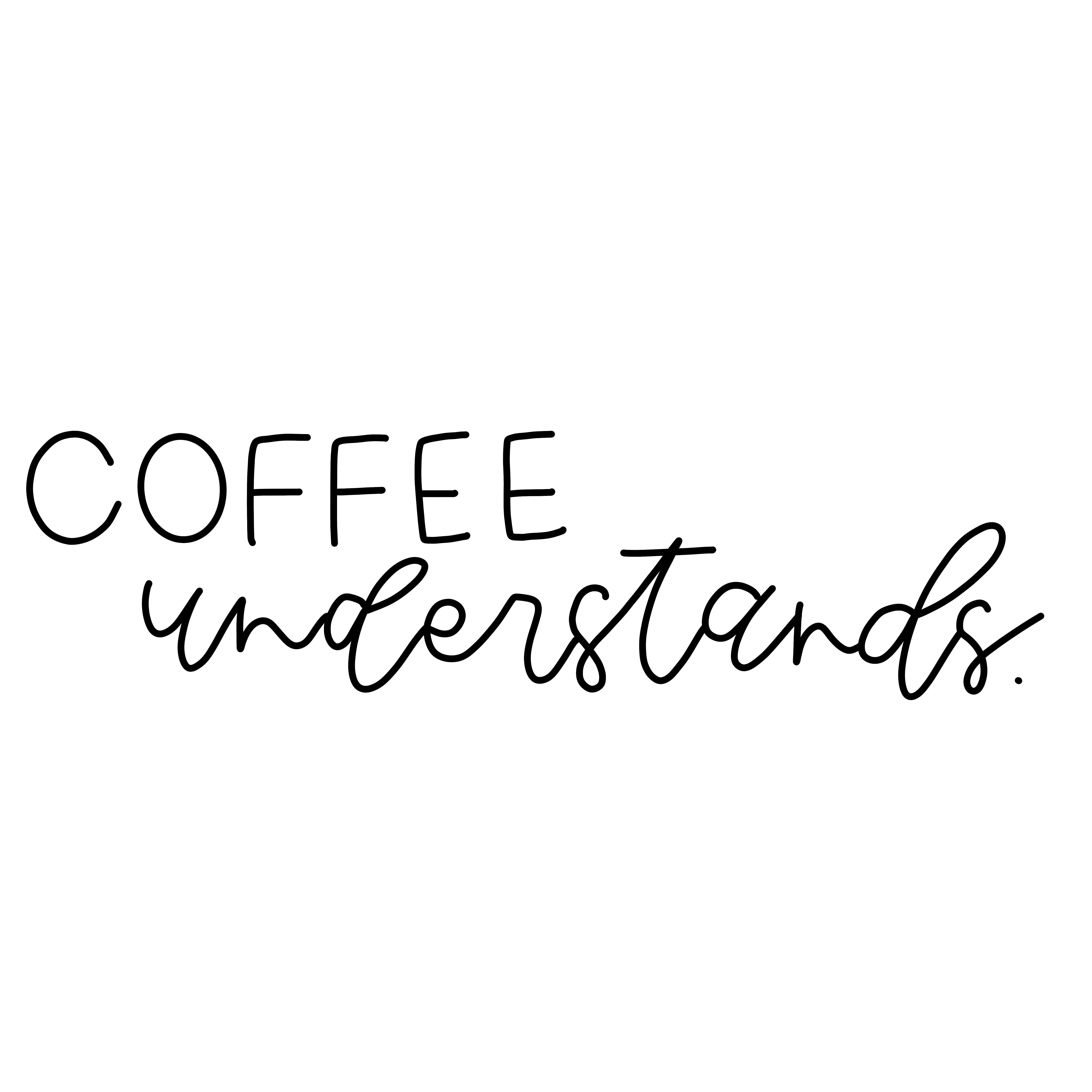 Coffee Quote Modern Hand Lettering Calligraphy Coffee Quotes Funny Inspirational Quotes Inspirational Quotes