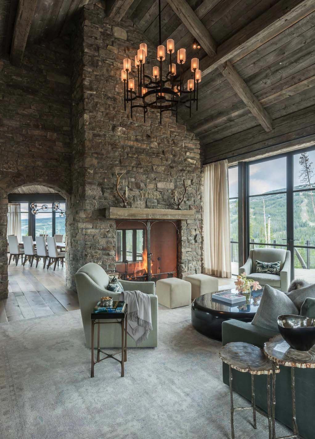 Stone And Timber Mountain Dream House Showcases Big Sky