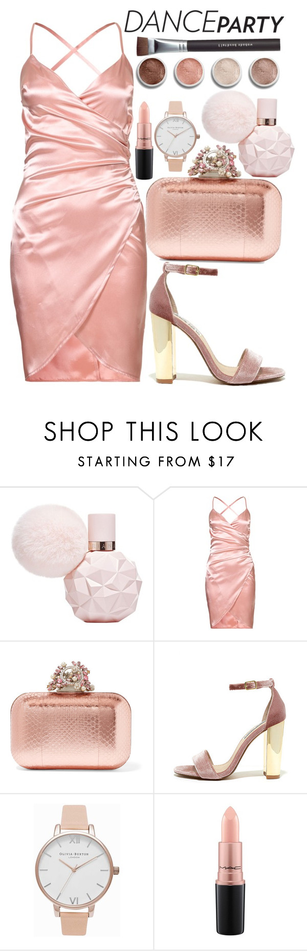"""2017"" by kit-kat-katya ❤ liked on Polyvore featuring Jimmy Choo, Steve Madden, Olivia Burton, MAC Cosmetics, Terre Mère and Bare Escentuals"