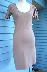 Cotton Knit Dress - Dusty Pink 10