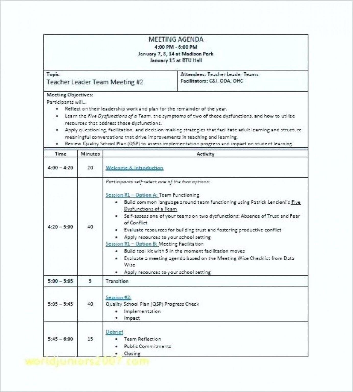 1213 Word Agenda Vorlage Für Meetings Ithacar