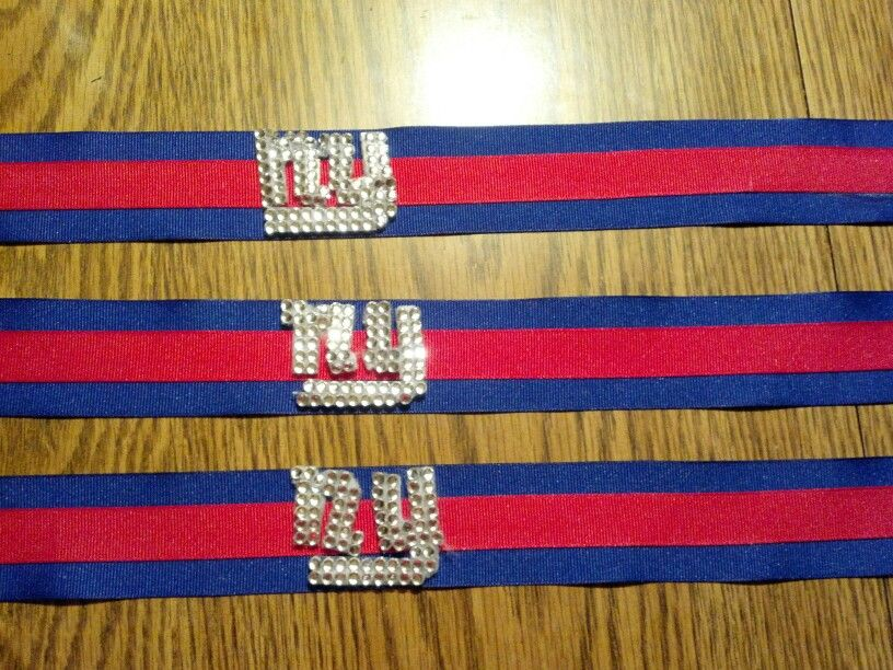 ny giants head bands before the ny was glued on blue. Black Bedroom Furniture Sets. Home Design Ideas