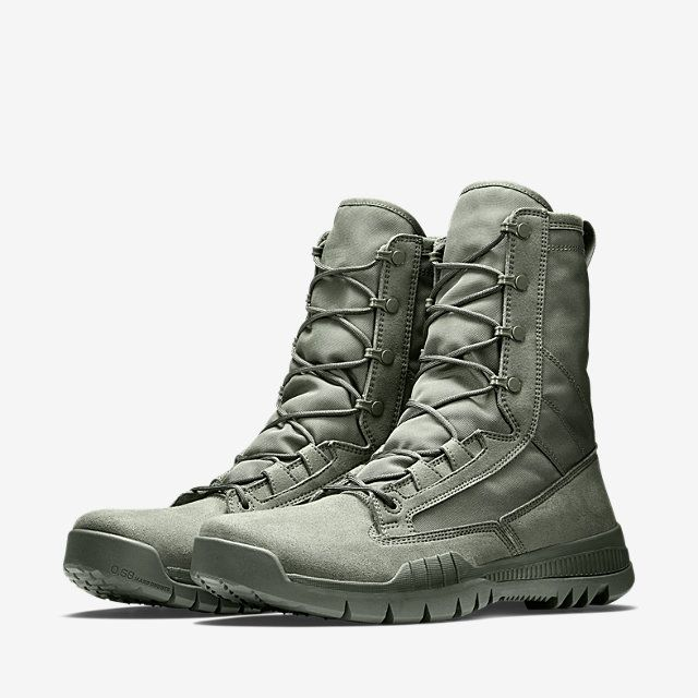 "Nike SFB Field 8/"" Triple Black Leather Special Field Tactical Military Boots"