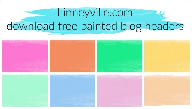 Blog header templates. Personalize these painted blog headers ...