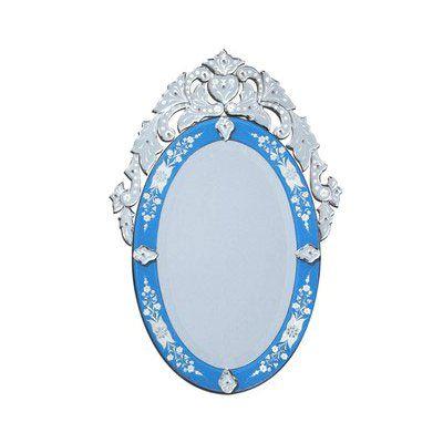 Olympia Blue Venetian Arch Wall Mirror - 19W x 35H in. - VG-003 BLUE