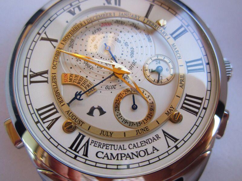 Citizen Campanola Perpetual Calendar Model AG6200-07P  f5b08111648