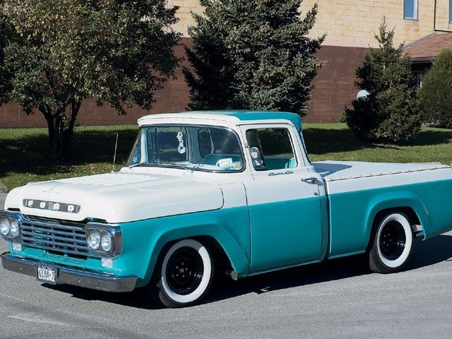 1959 Ford Truck Turquoise And White With Images Pickup Truck