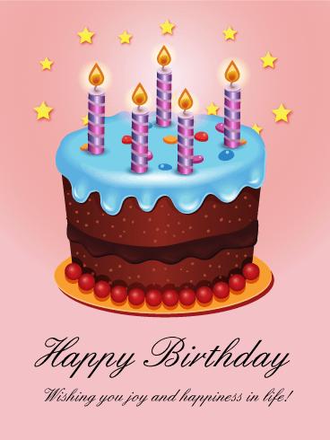 Shining Stars Birthday Cake Card Happy Birthday Pinterest