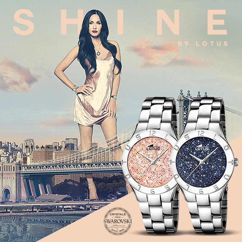 Lotus watches  sparkle with crystals from Swarovski. Presented by Megan Fox