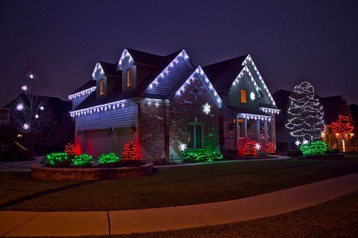 Deluxe House Facade And Garden Christmas Lights