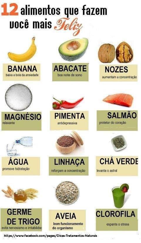 Alguns alimentos que nos fazem mais felizes. Sabia?  Saiba como fazer mais coisas em http://www.comofazer.org