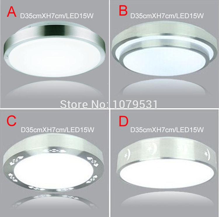 41.99$  Watch now - http://ali5y5.shopchina.info/go.php?t=32277352070 - 4 Types Aluminum+Acryl 15W LED Ceiling Lights Dia 350mm,AC85V~265V,Warm White/Cool White,Bedroom Kitchen Bathroom plafond lamp 41.99$ #magazineonline