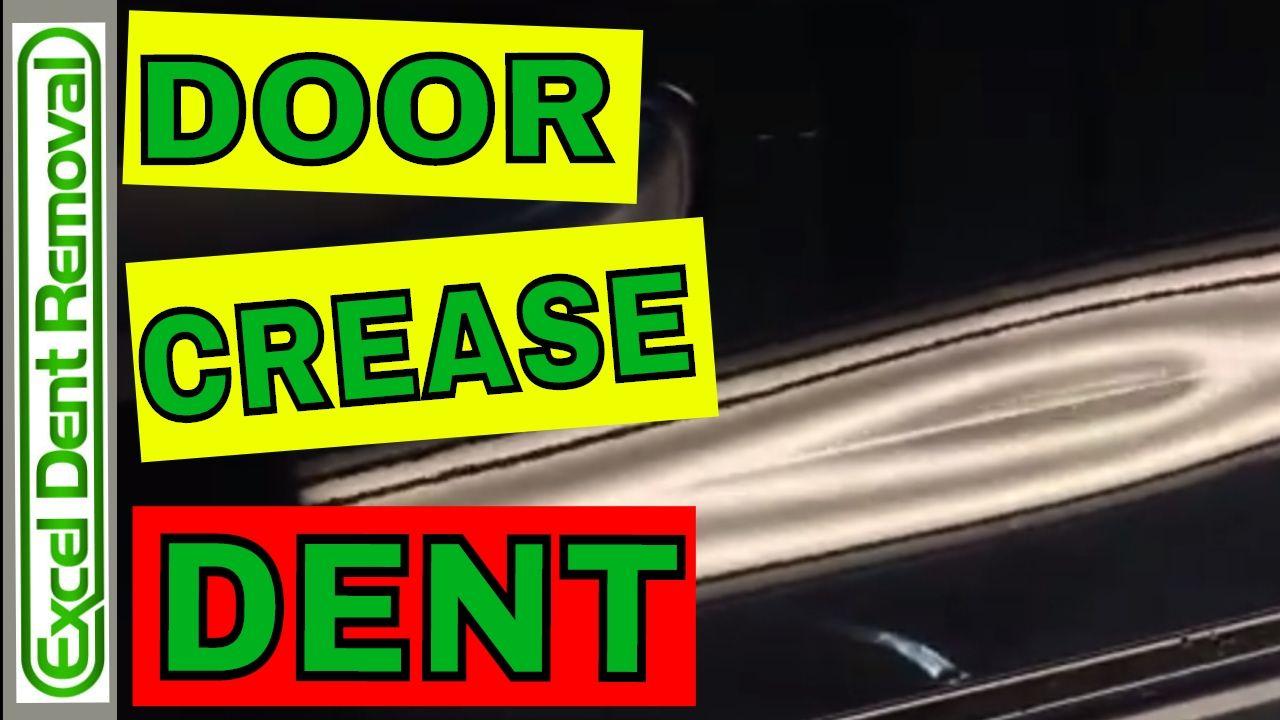 Car door crease dent repair see it done in 2 minutes