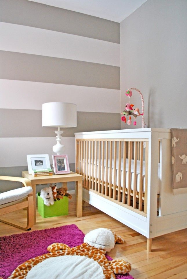 24 Bold Ideas For Striped Walls With Images Baby Room Wall
