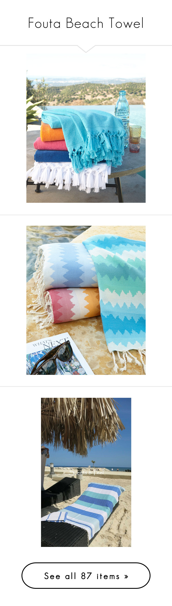 """""""Fouta Beach Towel"""" by sylandrya ❤ liked on Polyvore featuring home, bed & bath, bath, beach towels, beach, striped beach towels, stripe beach towel, blue, jacquard beach towels and blue beach towel"""