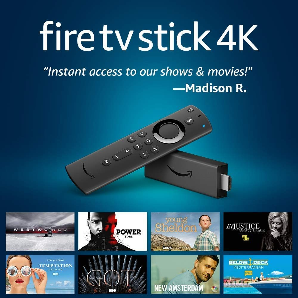 The Most Powerful 4k Streaming Stick With More Power A Lightning Fast Processor And Support For 802 11ac Wi Fi Fire Tv Stick Amazon Fire Tv Stick Fire Tv