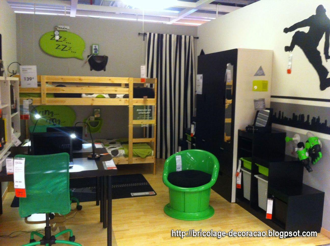 Cortina Soccer Bedroom Pinterest Ideias Ikea Decorar Um  ~ Decoração De Quarto Reciclar E Como Mobiliar Um Quarto