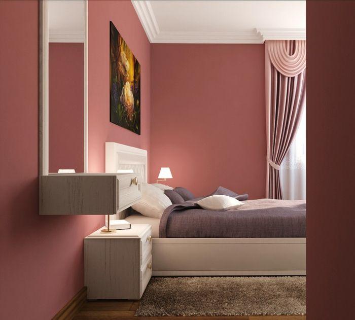 Como pintar una habitacion paredes en color salm n for Cama de matrimonio extra grande