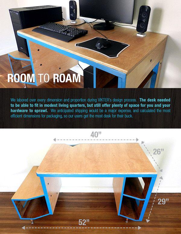 Vikter Gaming Desk On Behance Diy Computer Desk Gaming Desk Designs Gaming Desk Diy