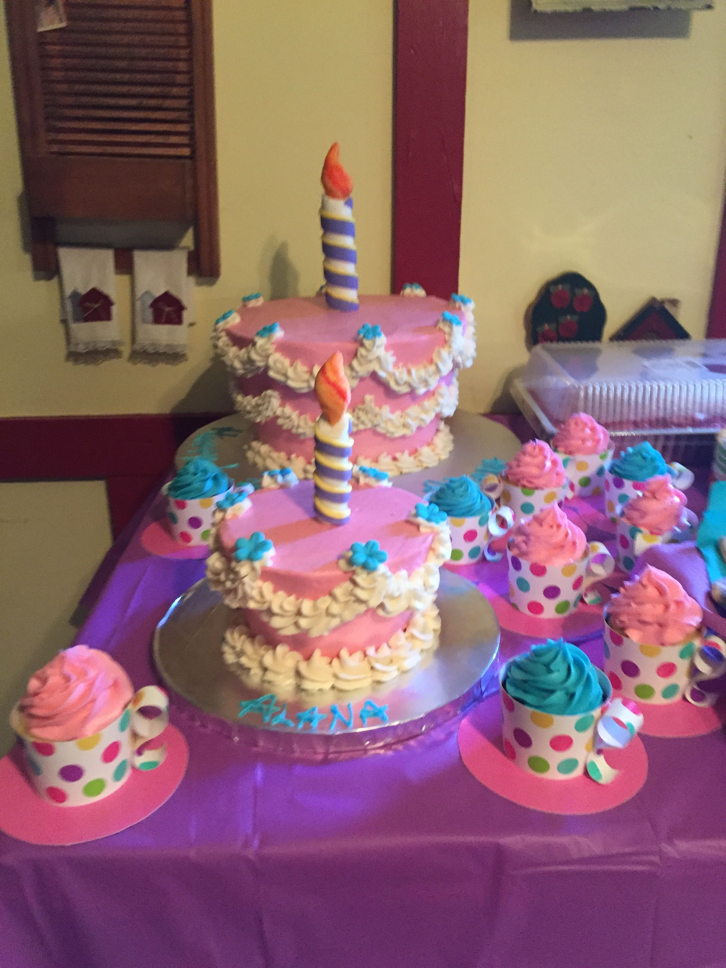 Alice In Wonderland Cake Smash Cake And Teacup Cupcakes