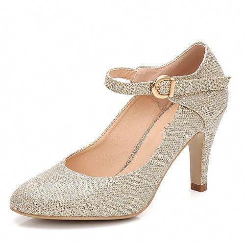 670c83a5fc Women's Shoes Sparkling Glitter Spring / Fall Basic Pump / Ankle Strap  Wedding Shoes Cone Heel