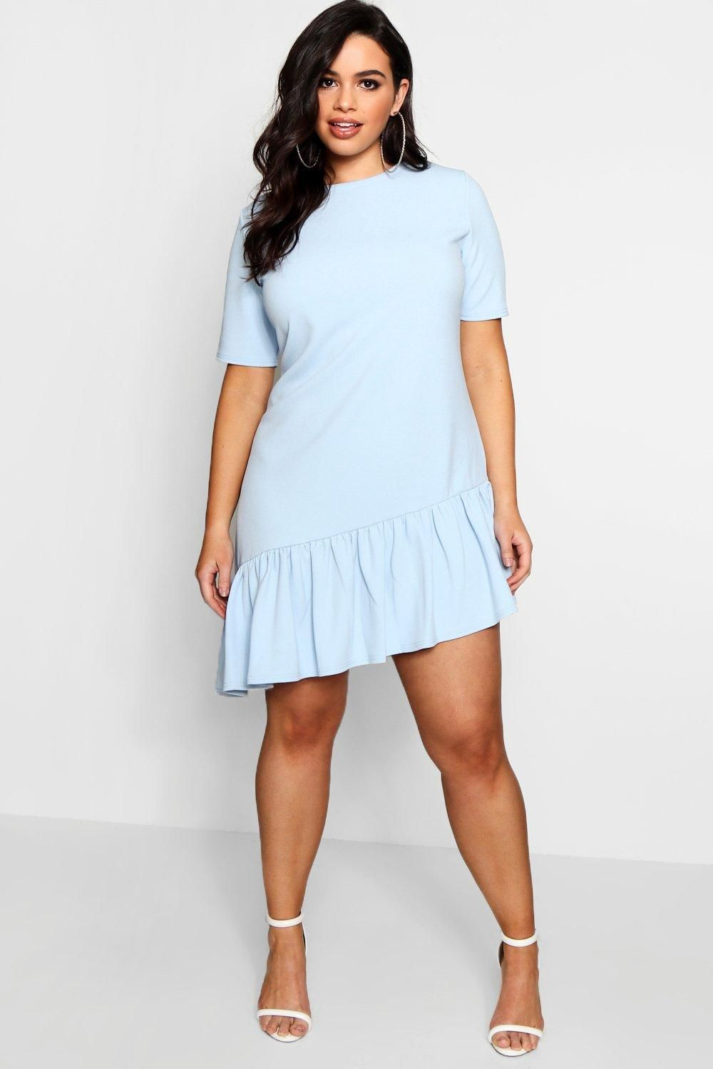 58cc16a25a Click here to find out about the Plus Georgie Asymmetric Hem Shift Dress  from Boohoo