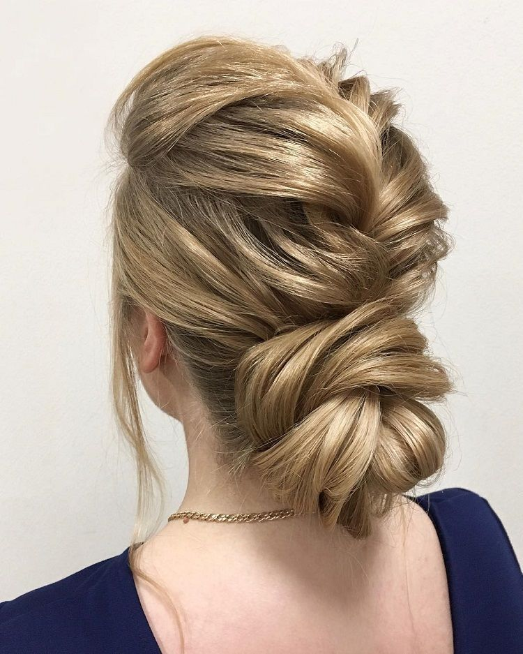 Beautiful Loose Braided Updo Hairstyles Upstyles Elegant Updo Chignon Bridal Updo Hairstyles Wed Braided Hairstyles Updo Hair Styles Cool Braid Hairstyles