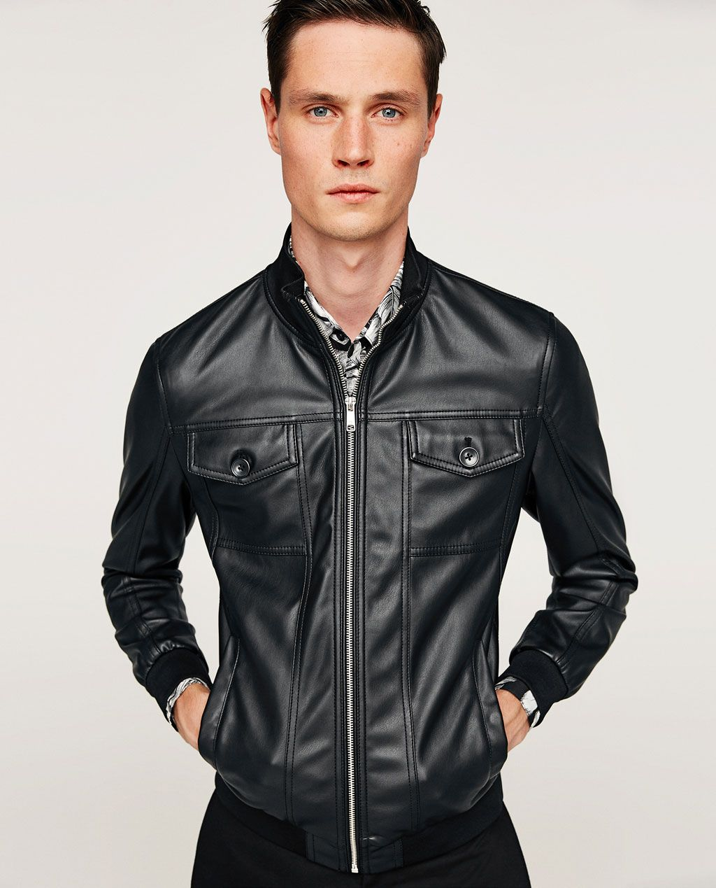 Image 1 of FAUX LEATHER JACKET from Zara Leather jacket