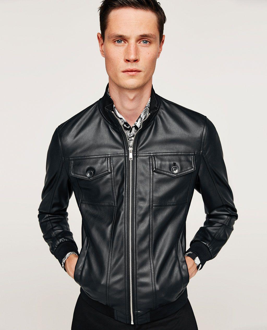 Image 1 of FAUX LEATHER JACKET from Zara Leather jacket