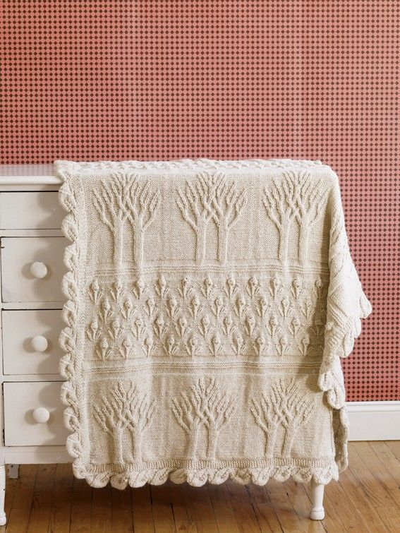 Tree of Life Afghan (Knit) - Lion Brand Yarn https://www.lionbrand ...