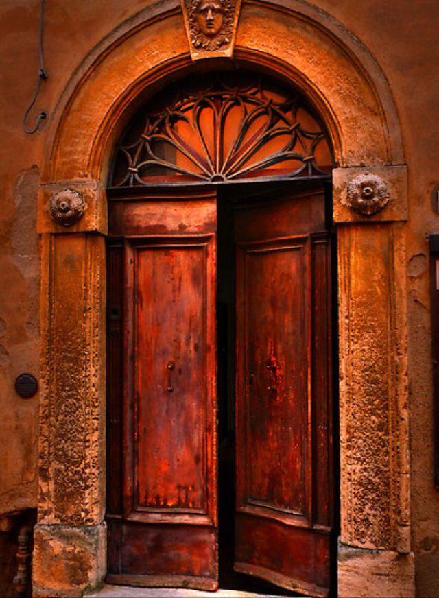Mysterious Door Wonder What S Behind It Cool Doors Unique Doors Orange Door