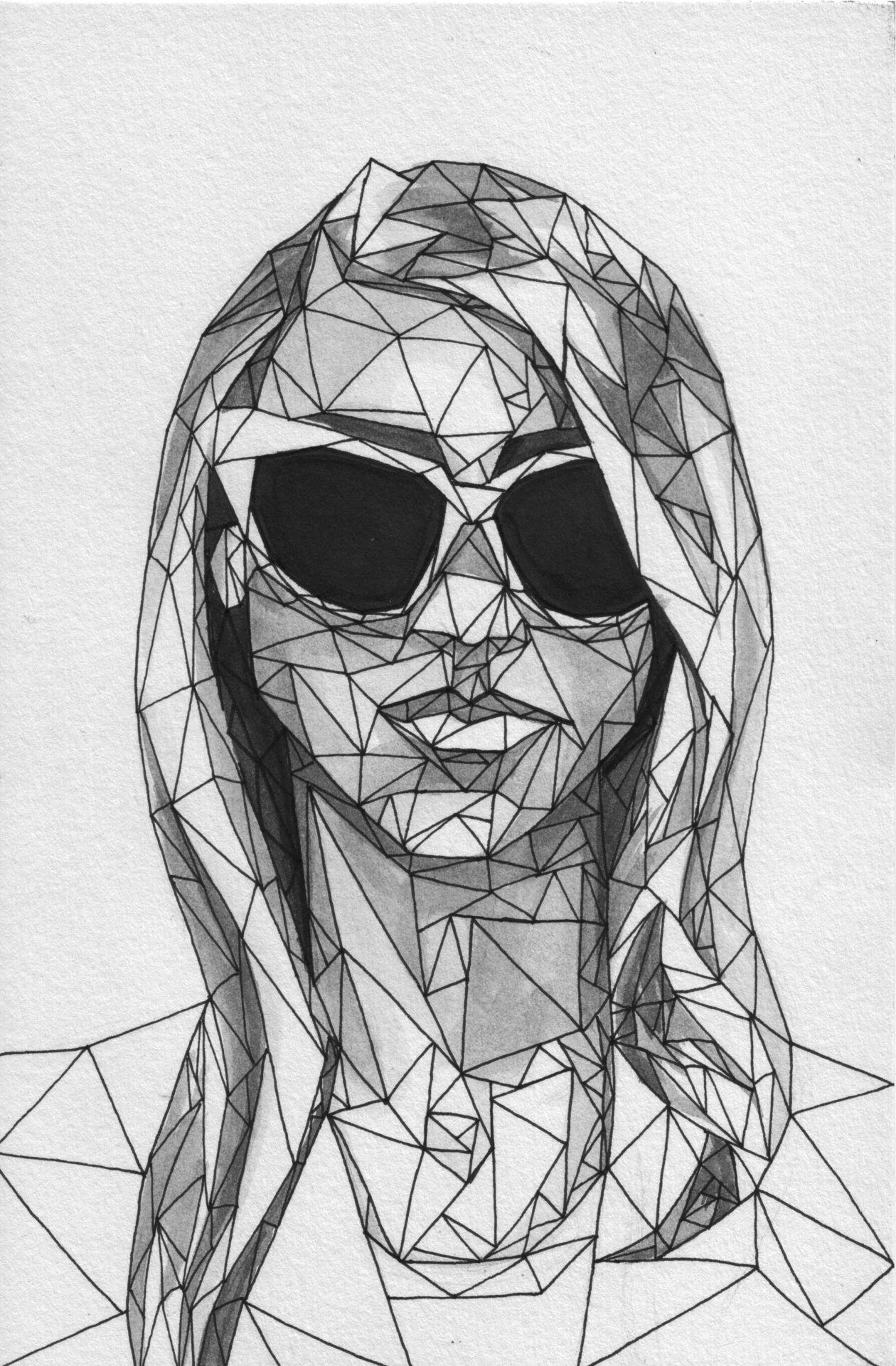 Geometric Line Drawing Artists : Tumblr m iy ztagm qe ayo g arte