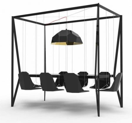 The Swing Dining Table Cool Idea Want This For Outside Home