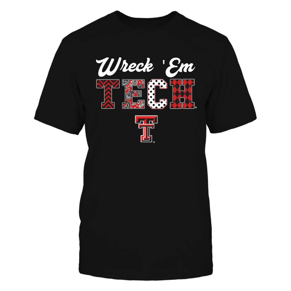 Texas Tech Red Raiders Patterned Letters Slogan Black Shirt Black Shirt Texas Tech Red Raiders Letter Patterns [ 1000 x 1000 Pixel ]