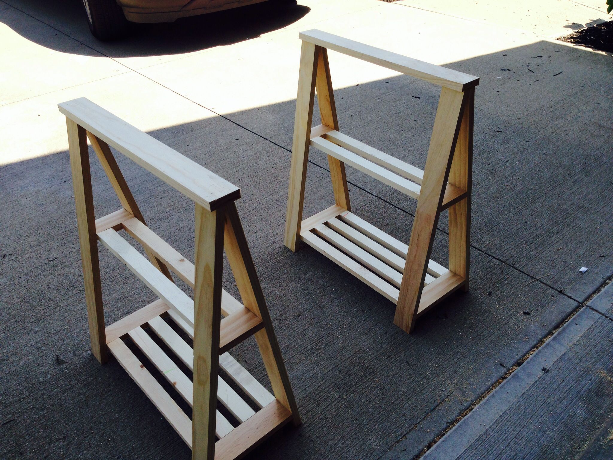 DIY Sawhorse Table legs (unfinished) Diy furniture