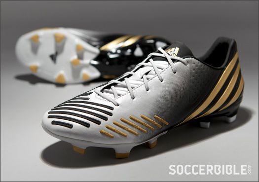 adidas Predator LZ Football Boots - White/Gold/Black