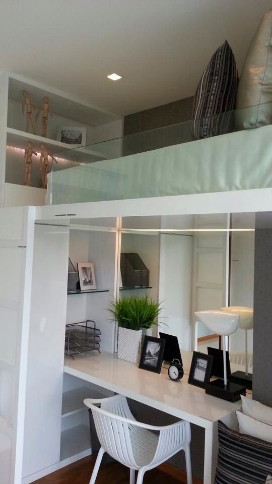 Hdb Study Room Design Ideas: Study Table With Top Deck Bed