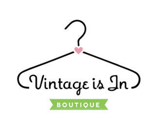 Vintage Is In By Agent Illustrateur Clothing Logo Design Clothing Logo Clothing Brand Logos