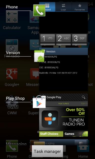 Samsung Galaxy S II ICS 4.0.3 Update Screenshots, Change