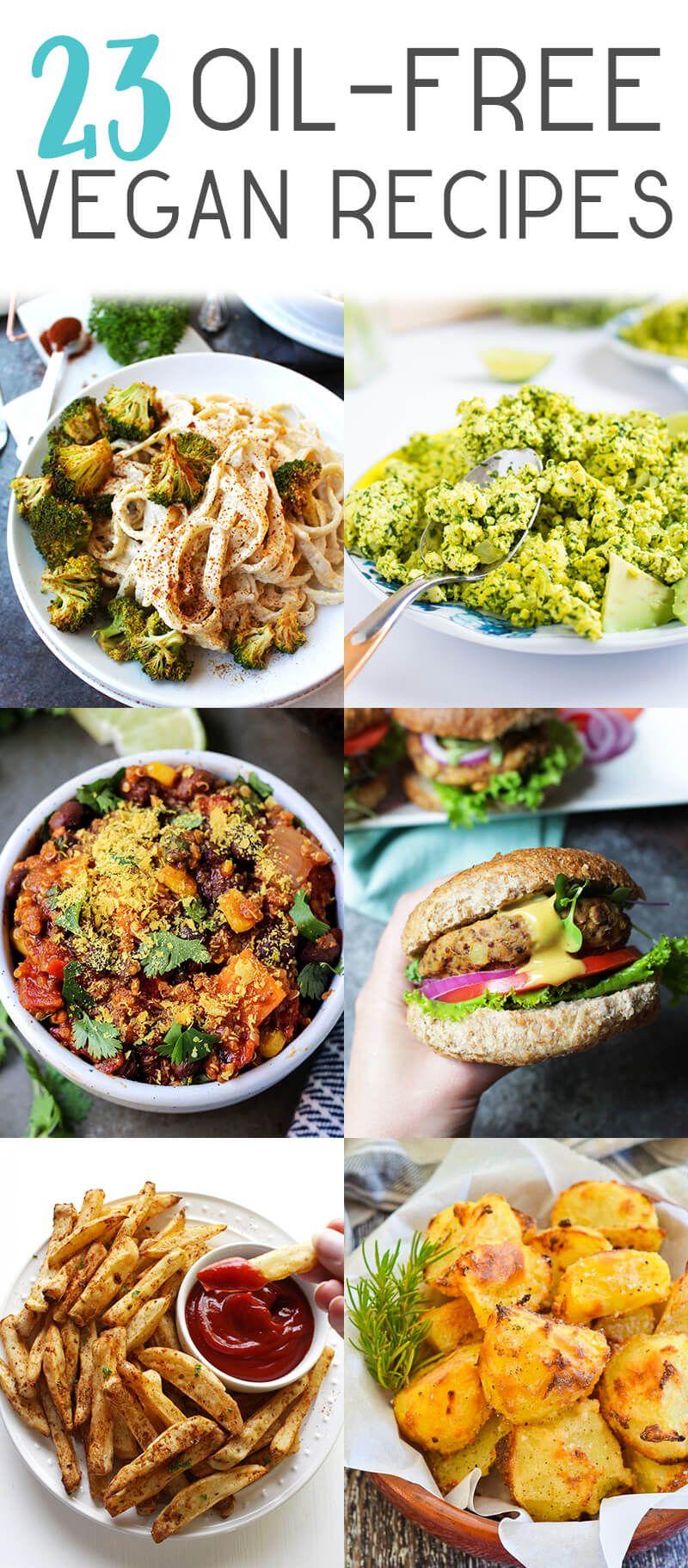 oil free vegan diet recipes