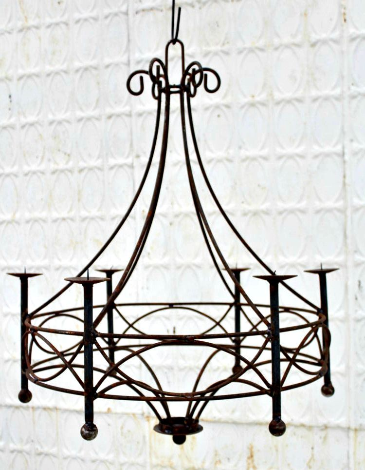 Wrought Iron Cassie Chandelier Candle Lighting Candelabra New