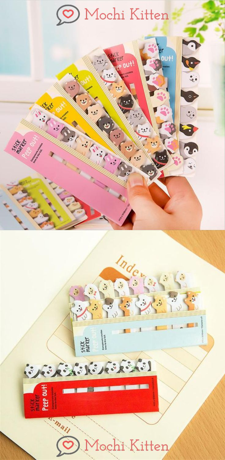 Sticky notes to the rescue! Use it as divider on your