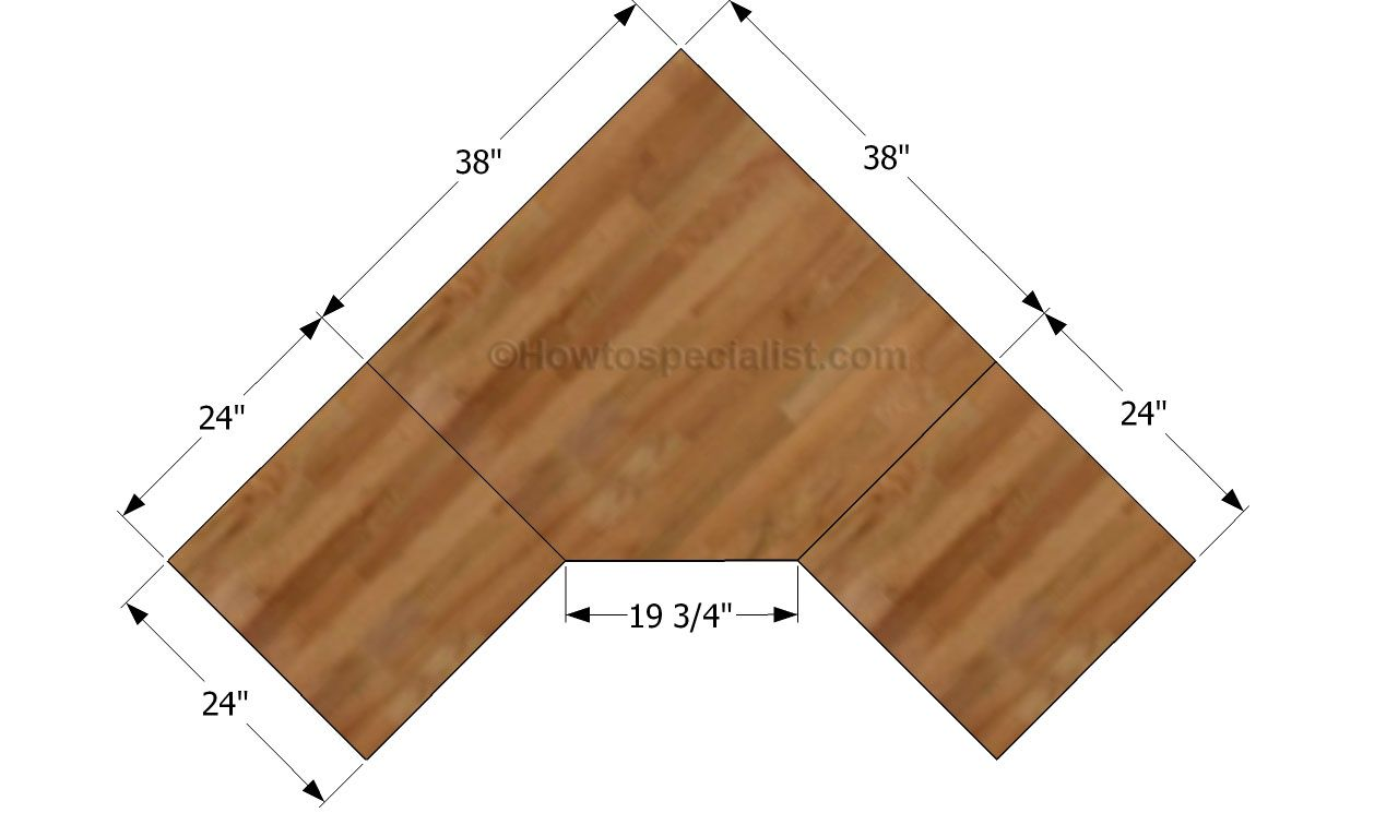 Hey ana diy corner desk plans one and 1 4 sheet plywood L shaped building